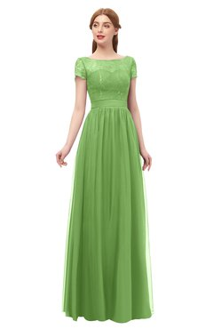 ColsBM Ellery Clover Bridesmaid Dresses A-line Half Backless Elegant Floor Length Short Sleeve Bateau