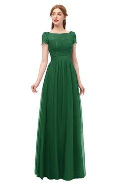 ColsBM Ellery Eden Bridesmaid Dresses A-line Half Backless Elegant Floor Length Short Sleeve Bateau