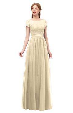 ColsBM Ellery Navajo Bridesmaid Dresses A-line Half Backless Elegant Floor Length Short Sleeve Bateau