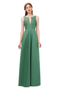 ColsBM Jayla Feldspar Bridesmaid Dresses Sleeveless Sexy Zipper V-neck Floor Length Pleated