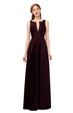 ColsBM Jayla Fig Bridesmaid Dresses Sleeveless Sexy Zipper V-neck Floor Length Pleated