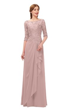 814cd51be19b ColsBM Jody Blush Pink Bridesmaid Dresses Elbow Length Sleeve Simple A-line Floor  Length Zipper