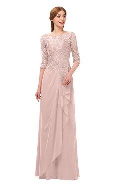 ba44d75dd11 ColsBM Jody Dusty Rose Bridesmaid Dresses Elbow Length Sleeve Simple A-line Floor  Length Zipper