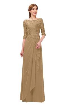 b17e3a86508e ColsBM Jody Indian Tan Bridesmaid Dresses Elbow Length Sleeve Simple A-line  Floor Length Zipper