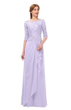 c6dbacd4a028d ColsBM Jody Pastel Lilac Bridesmaid Dresses Elbow Length Sleeve Simple  A-line Floor Length Zipper