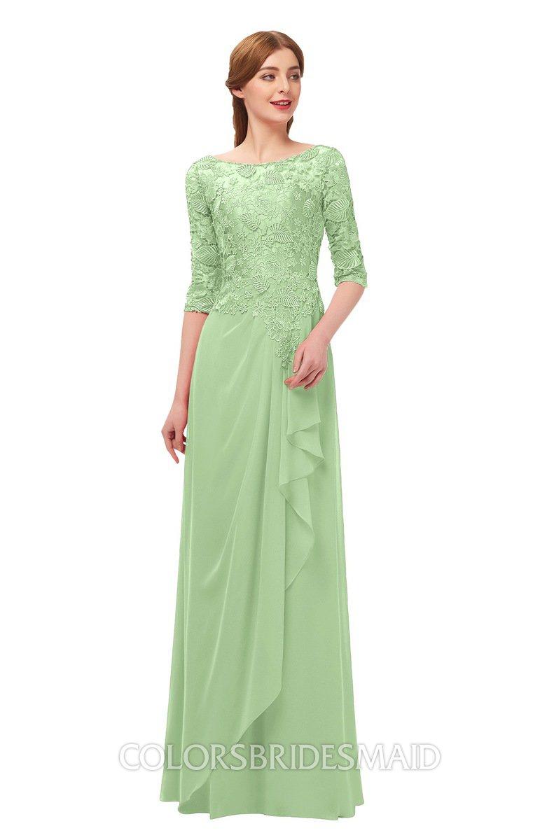 3e77e194f49d ColsBM Jody Sage Green Bridesmaid Dresses Elbow Length Sleeve Simple A-line  Floor Length Zipper