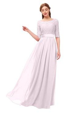 ColsBM Payton Blush Bridesmaid Dresses Sash A-line Modest Bateau Half Length Sleeve Zip up