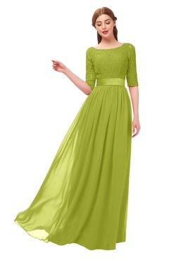 eb5a6960bf89 ColsBM Payton Green Oasis Bridesmaid Dresses Sash A-line Modest Bateau Half  Length Sleeve Zip