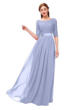 d843b694cb2 ColsBM Payton Lavender Bridesmaid Dresses Sash A-line Modest Bateau Half  Length Sleeve Zip up