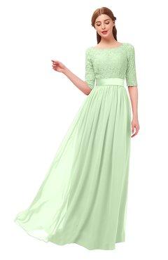 f9888adb01 ColsBM Payton Seacrest Bridesmaid Dresses Sash A-line Modest Bateau Half  Length Sleeve Zip up