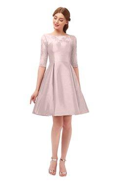 b08ea40c17c54 ColsBM Shiloh Coral Pink Bridesmaid Dresses Elegant Zipper Elbow Length  Sleeve Mini Baby Doll Lace