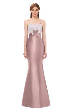 c62a2a22ee1c1 ColsBM Greer Blush Pink Bridesmaid Dresses Trumpet Zip up Modern Court  Train Spaghetti Sash