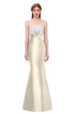 ColsBM Greer Cornhusk Bridesmaid Dresses Trumpet Zip up Modern Court Train Spaghetti Sash