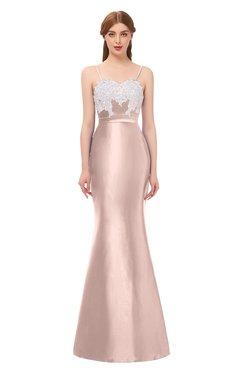 2cc38c4872605 ColsBM Greer Silver Peony Bridesmaid Dresses Trumpet Zip up Modern Court  Train Spaghetti Sash