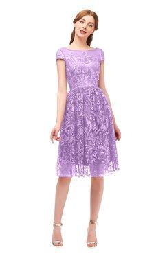 1a19c14fa19 ColsBM Arlie Begonia Bridesmaid Dresses Lace Classic Zipper Knee Length A- line Short Sleeve