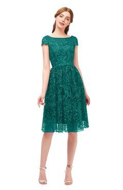 ColsBM Arlie Parasailing Bridesmaid Dresses Lace Classic Zipper Knee Length A-line Short Sleeve
