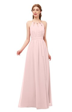 db94b56c020 ColsBM Hadley Pastel Pink Bridesmaid Dresses A-line Zip up Halter Sexy Floor  Length Sleeveless