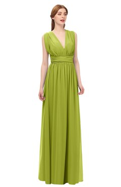 52364bed3c3e7 ColsBM Freya Green Oasis Bridesmaid Dresses Floor Length V-neck A-line  Sleeveless Sexy