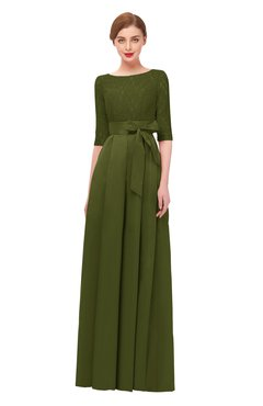 5fd2bbd0a3b ColsBM Aisha Olive Green Bridesmaid Dresses Sash A-line Floor Length Mature  Sabrina Zipper