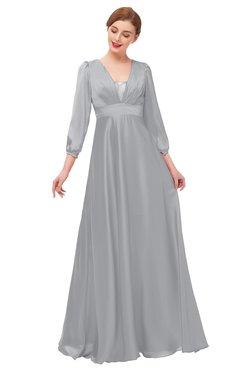 ColsBM Andie Ash Bridesmaid Dresses Ruching Modest Zipper Floor Length A-line V-neck