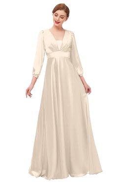 a1e5eeb515 ColsBM Andie Linen Bridesmaid Dresses Ruching Modest Zipper Floor Length A-line  V-neck
