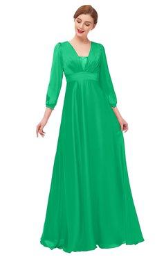3e3913d58578 ColsBM Andie Mint Bridesmaid Dresses Ruching Modest Zipper Floor Length  A-line V-neck