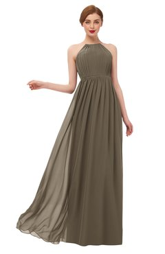 ColsBM Peyton Otter Bridesmaid Dresses Pleated Halter Sleeveless Half Backless A-line Glamorous