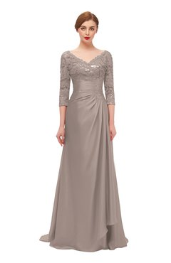ColsBM Tatum Etherea Bridesmaid Dresses Luxury Zipper Three-fourths Length Sleeve Brush Train Lace V-neck