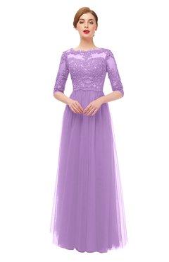 5a732e87803 ColsBM Billie Begonia Bridesmaid Dresses Scalloped Edge Ruching Zip up Half  Length Sleeve Mature A-