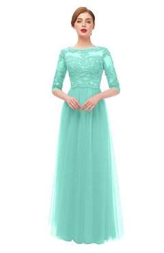 fd0c47d1671 ColsBM Billie Mint Green Bridesmaid Dresses Scalloped Edge Ruching Zip up  Half Length Sleeve Mature A