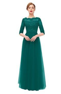 ColsBM Billie Parasailing Bridesmaid Dresses Scalloped Edge Ruching Zip up Half Length Sleeve Mature A-line