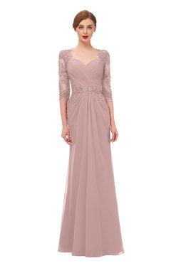 ColsBM Bronte Blush Pink Bridesmaid Dresses Elbow Length Sleeve Pleated Mermaid Zipper Floor Length Glamorous