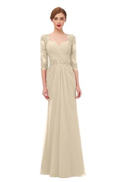 ColsBM Bronte Champagne Bridesmaid Dresses Elbow Length Sleeve Pleated Mermaid Zipper Floor Length Glamorous