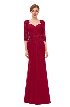 ColsBM Bronte Dark Red Bridesmaid Dresses Elbow Length Sleeve Pleated Mermaid Zipper Floor Length Glamorous
