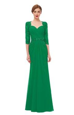 3c8dfb58e26e ColsBM Bronte Green Bridesmaid Dresses Elbow Length Sleeve Pleated Mermaid  Zipper Floor Length Glamorous