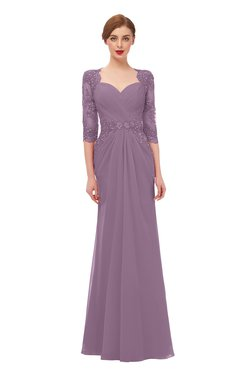 c4f127987a6 ColsBM Bronte Mauve Bridesmaid Dresses Elbow Length Sleeve Pleated Mermaid  Zipper Floor Length Glamorous