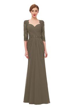 ColsBM Bronte Otter Bridesmaid Dresses Elbow Length Sleeve Pleated Mermaid Zipper Floor Length Glamorous