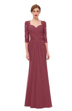 ColsBM Bronte Wine Bridesmaid Dresses Elbow Length Sleeve Pleated Mermaid Zipper Floor Length Glamorous