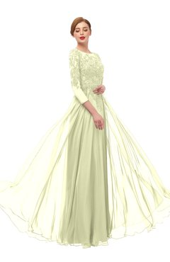 ColsBM Dixie Anise Flower Bridesmaid Dresses Lace Zip up Mature Floor Length Bateau Three-fourths Length Sleeve