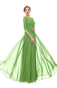ColsBM Dixie Clover Bridesmaid Dresses Lace Zip up Mature Floor Length Bateau Three-fourths Length Sleeve
