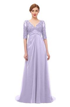 94568f7e160c0 ColsBM Harper Pastel Lilac Bridesmaid Dresses Half Backless Elbow Length  Sleeve Mature Sweep Train A-