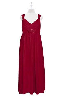 ColsBM Saniyah Scooter Plus Size Bridesmaid Dresses V-neck Floor Length Romantic Sleeveless Paillette Backless