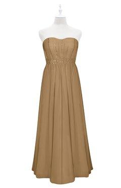38ad076d6c10 ColsBM Taya Indian Tan Plus Size Bridesmaid Dresses Sleeveless A-line  Romantic Pleated Floor Length