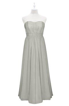 ColsBM Taya Platinum Plus Size Bridesmaid Dresses Sleeveless A-line Romantic Pleated Floor Length Zip up