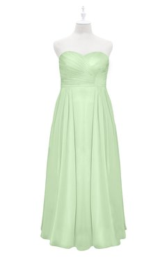 ColsBM Yamileth Seacrest Plus Size Bridesmaid Dresses Floor Length Sexy Split-Front Strapless Sleeveless Empire