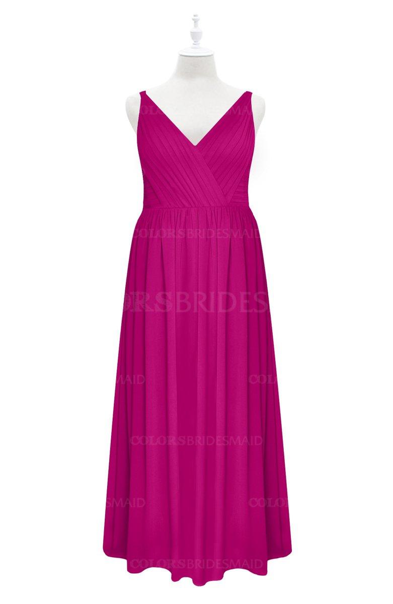 ColsBM Tinley - Hot Pink Plus Size Bridesmaid Dresses