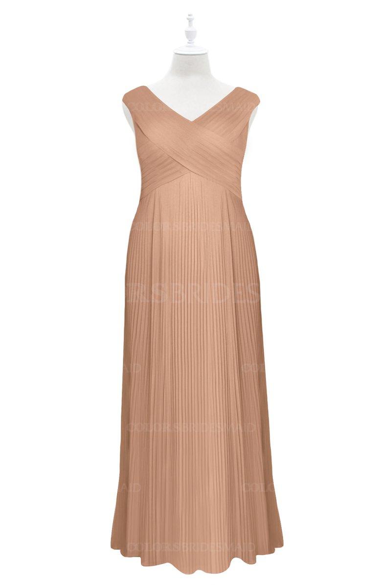 ColsBM Malaya Burnt Orange Plus Size Bridesmaid Dresses ...