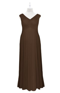 Chocolate Plus Size Formal Dresses