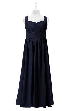 ColsBM Saige Peacoat Plus Size Bridesmaid Dresses Simple A-line Sleeveless Pleated Zip up Sweetheart
