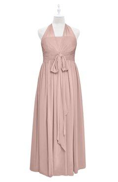 e2924a0b9a3 ColsBM Nyla Dusty Rose Plus Size Bridesmaid Dresses Floor Length Sleeveless  Bow Plain Halter Empire